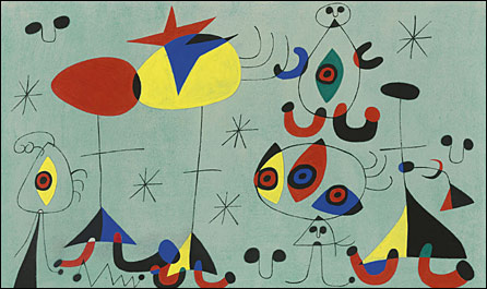 Soiree snob chez la Princesse by Joan Miro