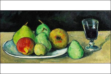Verre et Poires by Paul Cezanne