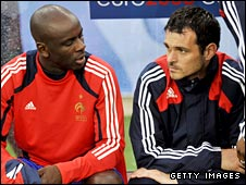 Lilian Thuram (left) and Willy Sagnol (right)