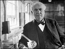 Thomas Edison, the inventor of the electric light bulb and phonograph
