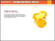 Apology on Sainsbury's website