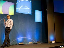 Bill Gates at an industry conference