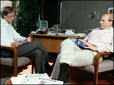 Bill Gates and Steve Ballmer in 1985