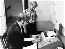 Bill Gates with Paul Allen at Lakeside school