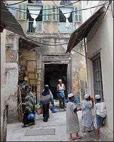 Residents of Stone Town in Zanzibar