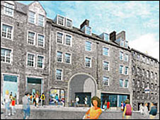 The Canongate pend (artist's impression)