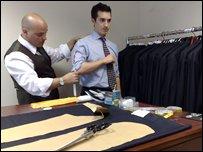Savile Row tailor Sartoriani at work