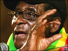 Robert Mugabe in Harare on 13 June 2008