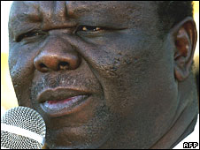 Morgan Tsvangirai on 8 June 2008