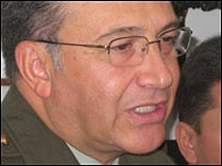 El director de la Policía Nacional de Colombia, general Oscar Naranjo