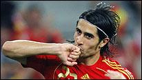 Spain's Ruben de La Red celebrates