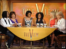 Michelle Obama (third from left) on The View, 18 June 2008