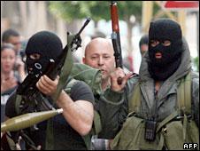 Shia gunmen during clashes in Beirut in May, 2008