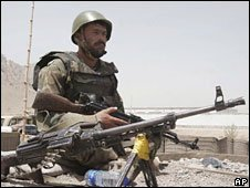 Afghan soldier in Arghandab district