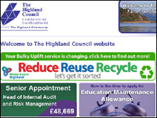 Highland Council website