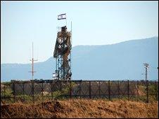 Israeli guard post on Lebanese-Israel border
