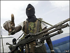 File photo of Niger Delta militant
