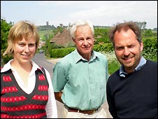 Frances Clayton, communications manager [left], Chris Reynolds, chairman [centre], Nick Johannsen, director [right]