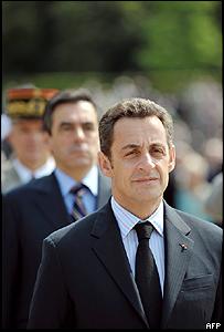 Nicoás Sarkozy, presidente de Francia.