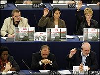 Votación por la Directiva del Retorno en el parlamento europeo.