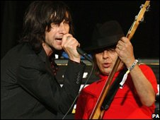 Primal Scream's Bobby Gillespie (left) and Mani