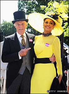 Bruce Forsyth and his wife Wilnelia Merced e