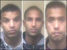 Escaped Campsfield detainees: Abdesalam Tarik Ben, Abdelhak Morid and Mohammed Aref Hosseini