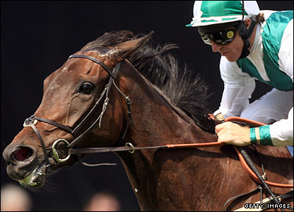 Michita wins the Ribblesdale Stakes