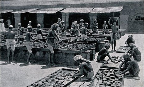 Opium factory in India