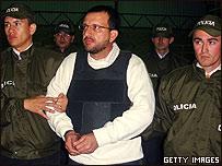 """Extradici�n del paramilitar colombiano Carlos Mario Jimenez, alias """"Macaco"""""""