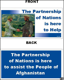 US leaflet distributed in Afghanistan