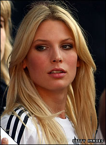 Sarah Brandner, girlfriend of German midfielder Bastian Schweinsteiger