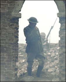 Scene from BBC Somme drama