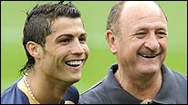Portugal pair Cristiano Ronaldo (left) and Luiz Felipe Scolari