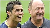 Portugal pair Cristiano Ronaldo (left) and Luiz Felipe Scolari