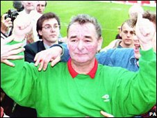 Brian Clough in 1993