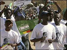 A ruling party rally in Shamva, Zimbabwe