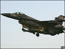 An Israeli F16C fighter, July 2006