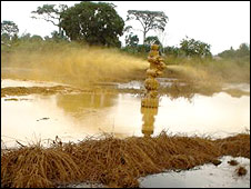 Oil spill in Ogoni
