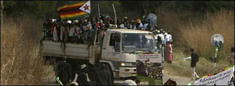 Ruling party supporters in rural Zimbabwe