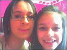Davina Baker, 16, and her sister Jasmine Baker, 13