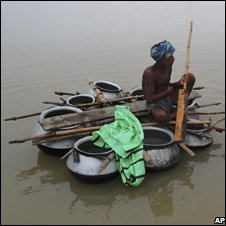 A flood victim in Orissa