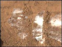 اكتشاف كميات كبيرة من المياه المجمدة في المريخ _44765701_44765061