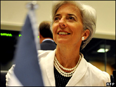 French Finance Minister Christine Lagarde