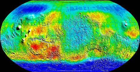 Ice map of Mars