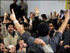 Student protests at an Iranian university (file picture)