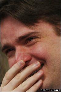 Neil Entwistle weeps