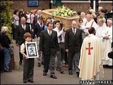 Jimmy Mizen's coffin