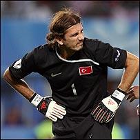 El portero turco Rustu Recber