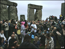 Revellers at Stonehenge
